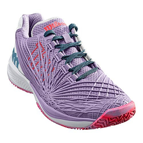 Wilson Kaos 2.0 Women's Tennis Shoes - Lilac/White/Fiery Coral Size U.S.: 9.5