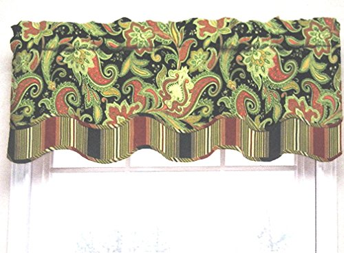 - Waverly Traditions By Rustic Retreat Paisley Floral Valance 52