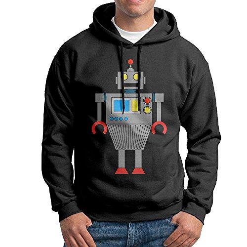 MARC Men's Toddler Robot Sweatshirt Black Size L
