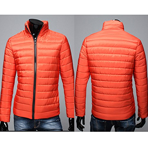Red Zip Stand Full HARRYSTORE Coat Warm Outwear Fit Collar Men Jacket Thick Slim nR88A7wZxq