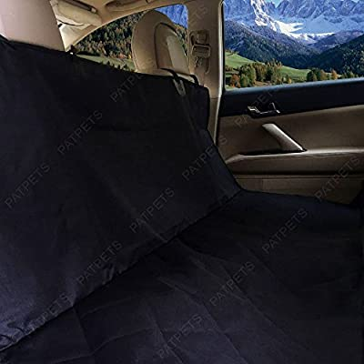 FitPetX Deluxe Waterproof Pet Seat Cover With Bonus Pet Car Seat Belt for Cars and SUV -Nonslip, Quilted, Extra Side Flaps, Machine Washable Pet Hammock Car Seat Cover