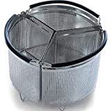 3-Piece Divided Steamer Basket 3 qt Instant Pot Accessories [6qt 8qt Avail], InstaPot Divider Steamer Insert Cooks 3 Items at Once, Insta Pot Ultra Accessory for Veggies Eggs Meat (IP Mini 3 Quart)