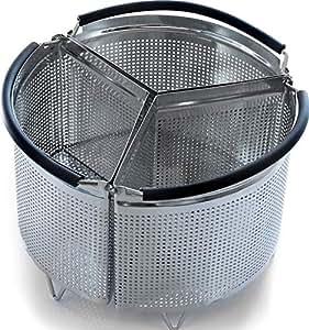 Amazon Com 3 Piece Divided Steamer Basket For Instant Pot