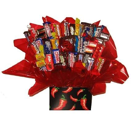 Amazon Com Chocolate Candy Bouquet Chili Pepper Gift Box Kitchen