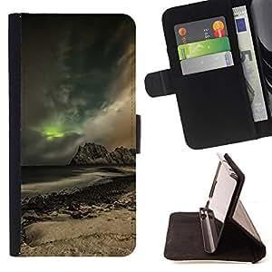 KingStore / Leather Etui en cuir / Samsung Galaxy S3 MINI 8190 / Glow Montaña