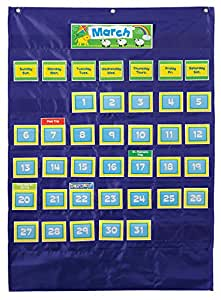 Carson Dellosa Deluxe Calendar Pocket Chart (158156)