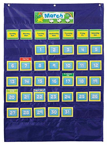 Carson Dellosa Deluxe Calendar Pocket Chart (158156) (Del Carson)