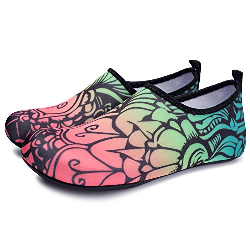 Shoes Surf Barefoot Water Flower Shoes Run Unisex RUN Yoga Black for L Swim Beach Skin Dive Bwqgtvv