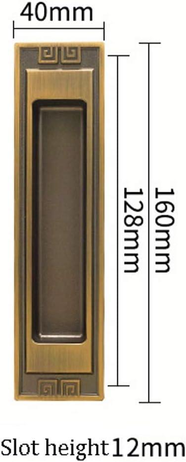 Manija empotrada de aleación de Zinc Manija del cajón del gabinete Manija empotrada de la Puerta Deslizante Manija Oculta de Bronce Oculta Asa Oculta de 160 mm x 40 mm (Color :