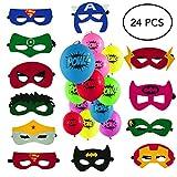 Lorenz Novelties Superhero Masks, Punch Balloons. 12 Balloons, 12 Masks. Party Favors for Kids. Birthday Supplies.