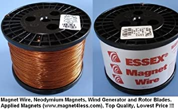 Amazon essex magnet wire 24 awg gauge enameled copper wire essex magnet wire 24 awg gauge enameled copper wire 10 lbs greentooth Images