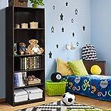 Furinno Jaya Simply Home 5-Shelf Bookcase, Adjustable Shelves, Espresso