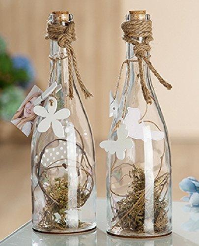 Gilde Cristal Decorativo Botella de Primavera 1 Pieza L 0 X B 0 X H 29 cm Transparente