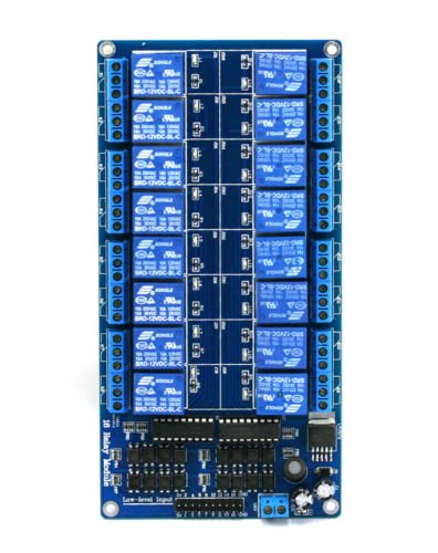 16 Channel 5V Relay Board Module Optocoupler LED for Arduino PiC ARM AVR