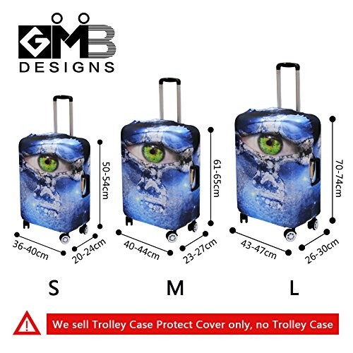Creativebags Travel Cool Trolley Case Suitcase Bags DustProof Protective Cover