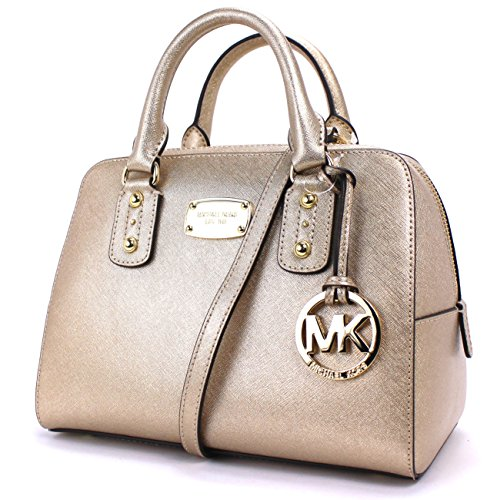 Michael Kors Small Satchel Saffiano Leather (Pale - Burberry Michael