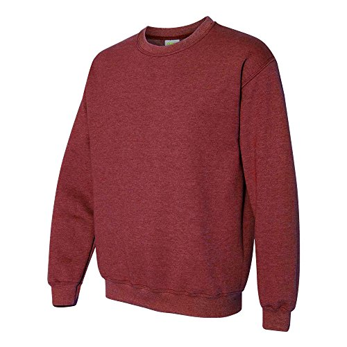 Gildan Heavy Blend Unisex Adult Crewneck Sweatshirt (L) (Heather Sport Dark Maroon)