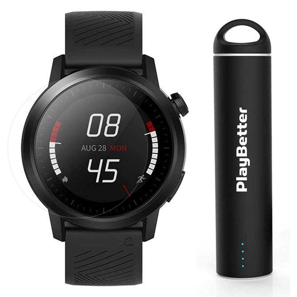 COROS APEX Premium Multisport GPS Watch | Power Bundle Includes PlayBetter Portable Charger & Screen Protectors | COROS Trainer (Black, 46mm)