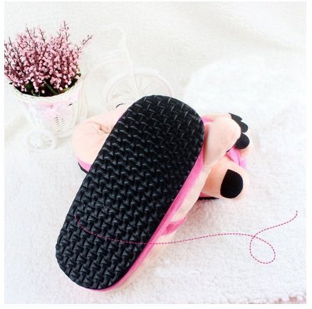 Pink Funny Gift Hot Slippers Eforstore Big Winter Plush Novelty Soft Toe Feet Shoes Adult Warm qnAd6RwUxA
