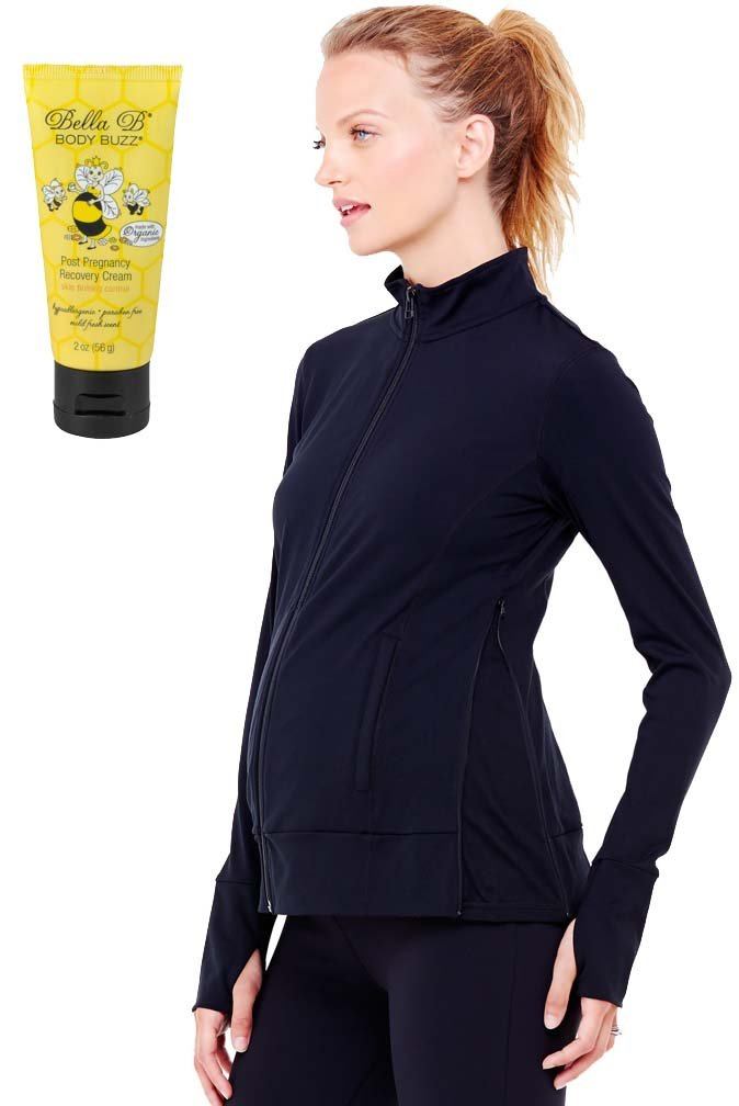 Ingrid & Isabel Bundle 2 Item Maternity Active Jacket + BellaB BodyBuzz Black L by Ingrid & Isabel