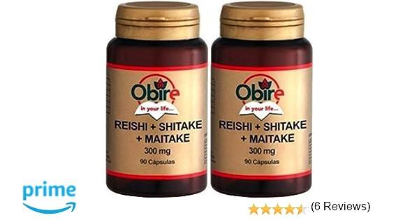 OBIRE - REISHI + SHITAKE + MAITAKE 90 CAPSULAS. (Pack 2u.): Amazon.es: Salud y cuidado personal