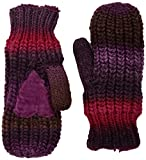 Isotoner Women's Chunky Cable Knit Sherpasoft Mittens, multi print One Size