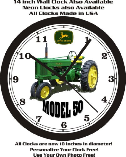 JOHN DEERE MODEL 50 TRACTOR WALL CLOCK-FREE USA - You Deere Thank John