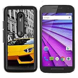 Lambo Murcielago- Metal de aluminio y de plástico duro Caja del teléfono - Negro - Motorola Moto G (3rd gen) / G3