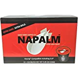 Napalm Coffee, EXTRA DARK ROAST, 100% Arabica, Single Serve Cups for Keurig K-Cup Brewers, 24 Count