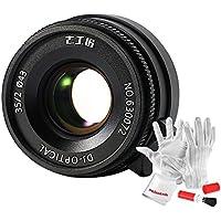 7artisans 35mm F2 Manual Prime Lens for Leica M Mount Cameras Like Leica M2 M3 M4-2 M5 M6 M7 M8 M9 M10 M4P M9p M240 M240P ME M262 M-M CL, Voigtlander M Mount Cameras - Black