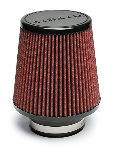 Airaid 701-450 Universal Clamp-On Air Filter: Round Tapered; 3.5 in (89 mm) Flange ID; 6 in (152 mm) Height; 6 in (152 mm) Base; 4.625 in (117 mm) Top (Center Platinum Round Tapered)