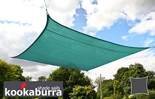 クッカバラ 緑色 通気性日除けパーティシェードセイル(ニット織) - 紫外線90%カット - OL0130LT(5m正三角形) B008PRCI5U 14575 5m正三角形  5m正三角形