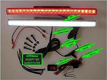 amazon com golf cart led light kit liteseasy standard w built in Golf Cart Light Kit Wiring Diagram golf cart led light kit liteseasy standard w built in meter wiring diagram for golf cart light kit