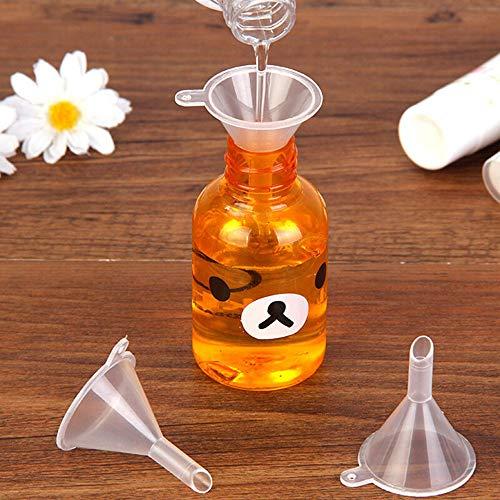 (Potelin Plastic Travel Mini Funnels for Filling Small Samples of Perfume Emulsion)