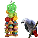 yoyoung Natural and Colorful Knots Block Birds Parrot Chewing Toys (Wood Knots and Ball Bird Toy) …