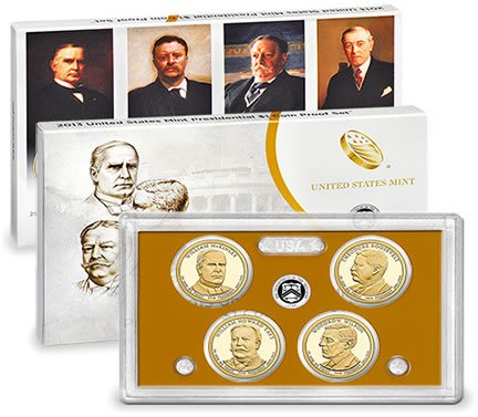 2013 S US MINT Presidential Dollar Proof Set Comes in original Packaging From the US Mint Proof