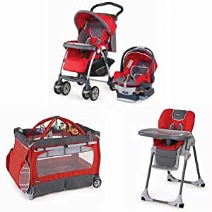 chicco matching stroller system high chair and play yard combo fuego baby. Black Bedroom Furniture Sets. Home Design Ideas
