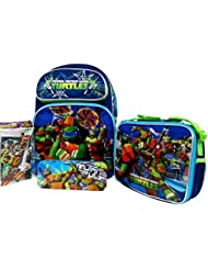 Teenage Mutant Ninja Turtles Large 16 Backpack Book Bag with Detachable Lunch Bag, Pencil Pouch & Stationery...