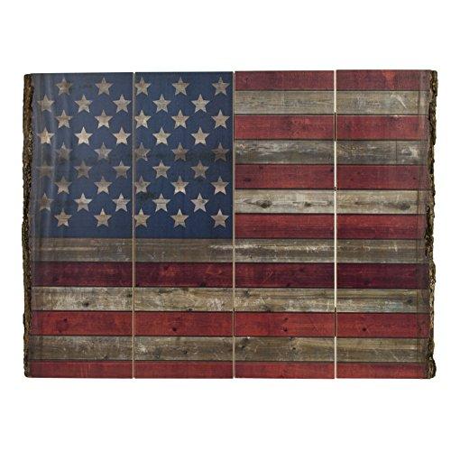 Walnut Hollow InGrained Art, Rustic 45-Star Patriotic American Flag (Rustic American Flag)