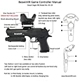 BeswinVR Pistol Virtual Reality Game Controller HTC Vive Pro 2.0| Vive 1.0-Ready with Strong Recoil Feedback- Pistol Whip VR Game Compatible