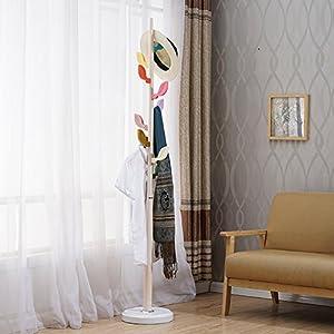 SWEET&HONEY Cloth hanger Tree rack Free standing 9 Coat hooks Stand Holder Coat rack Hanger Hanging clothes shelf Clothes Bedroom-A 178x31cm(70x12inch)