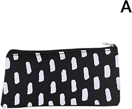 Star Eleven Oxford Estuche de tela con cremallera para lápices o cosméticos, bolsa de almacenamiento, color A: Amazon.es: Oficina y papelería