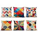 Top Finel Sofa decor Cotton Linen Square Decorative Throw Pillows...