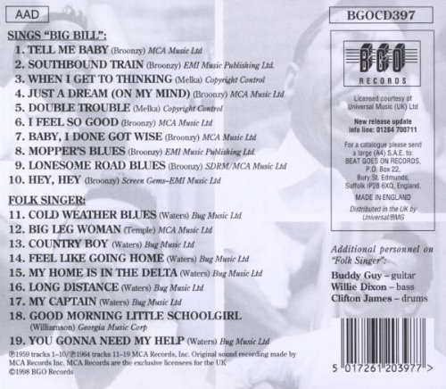 Sings Big Bill Broonzy/Folk Singer