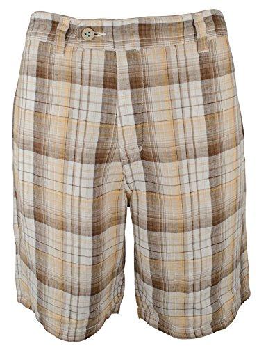 Tommy Bahama Men's Island Duo Reversible Linen Shorts Kona Earth 38W x 10L