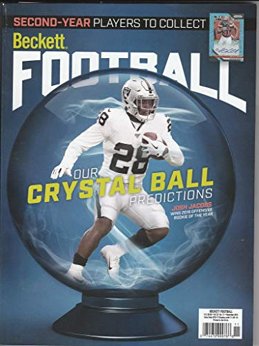 November 2019 Beckett Football Price Guide Magazine Vol 32 No 11 Josh Jacobs