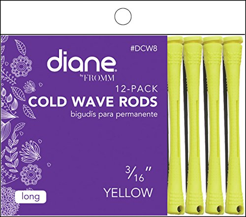 Fromm International Diane Cold Wave Rods, Yellow, 3/16-Inch, 12/Bag DCW8