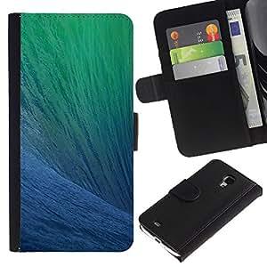KLONGSHOP / Tirón de la caja Cartera de cuero con ranuras para tarjetas - Ocean Surfing Wave Sun Summer Blue - Samsung Galaxy S4 Mini i9190 MINI VERSION!