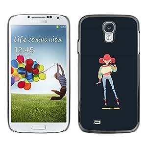GOODTHINGS ( NO PARA S4 Mini ) Funda Imagen Diseño Carcasa Tapa Trasera Negro Cover Skin Case para Samsung Galaxy S4 I9500 - 90s chica de moda pintura del arte sudadera estilo