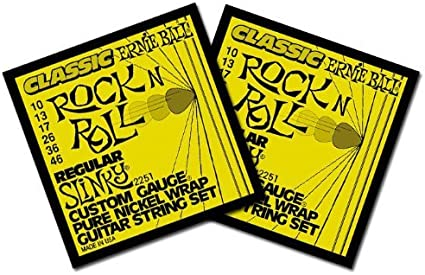 5 pack Ernie Ball Regular Slinky Electric Guitar Strings 10-46